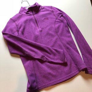 Purple Women's The North Face Fleece Sweatshirt XS